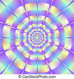 Octagonal Tunnel - Digital abstract fractal image with an...