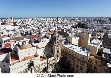 View over the city of Cadiz, Andalusia Spain