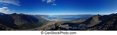 Ushuaia Panorama - Panorama of Ushuaia and the surrounding...