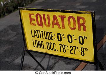 671 Equator sign in Quito Ecuador - Equator sign in Quito...