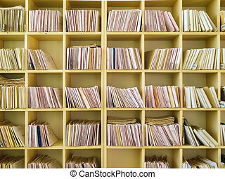 Keeping records on yellow shelves