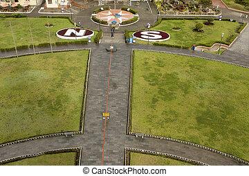 672 Equator line in Quito Ecuador - Equator line in Quito...