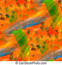 abstract texture orange, green art water color seamless background watercolor