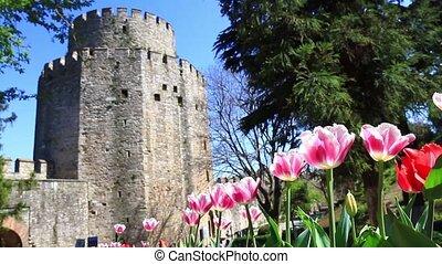 Springtime in Rumelihisari, Istanbu - Rumeli Hisari Museum...