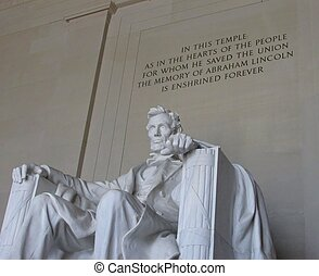 lincoln memorial - the lincoln memorial; where the memory of...