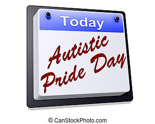 Autistic Pride Day on a sign