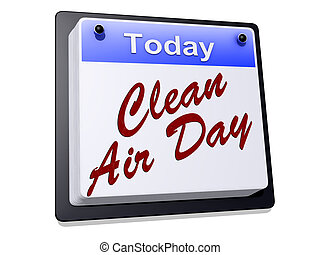 Clean Air Day on a sign
