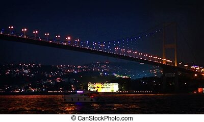 Bosporus Bridge in Night - Bosphorus Bridge nightly light...