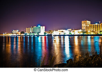 wilmington Waterfront at night