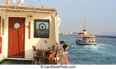 Istanbul journey - Deck of the City Passenger Ship. Pleasant...