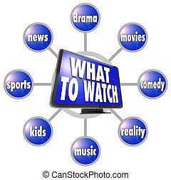 What to Watch HDTV Program Suggestions Ideas Guide - A grid...