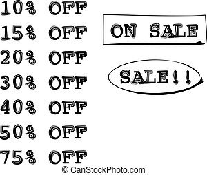 On Sale Percent Off Isolated Vector
