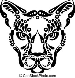 puma, tatuaje, símbolo, decoración,...