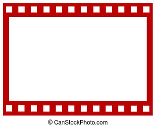 Blank red film strip
