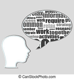 Brain training in business word collage