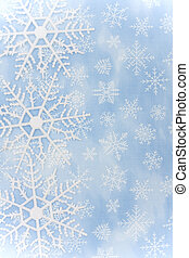 Snowflake Border - Blue background with close up of...
