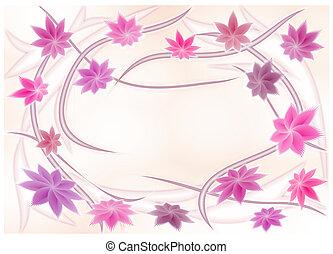 Floral frame - Gentile floral figured frame on light...