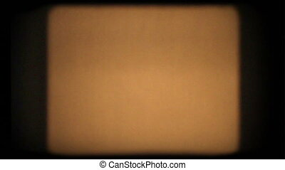 Orange Film Flicker - Blank 8mm film with dust, scratches,...