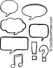 Isolated Vector Ink Speech Bubbles - Vectorised set of...