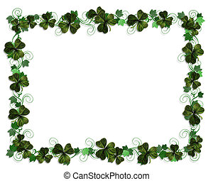 St Pattys Day Border - 3D Illustration for St Patricks Day...