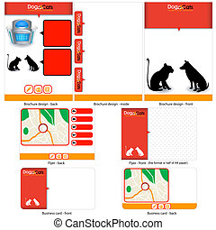 dogs and cats template design