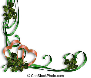 St Patty\\\'s Day Border - 3D Illustration for St...