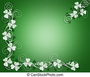 St Pattys Day Border - Illustration for St Patricks Day...