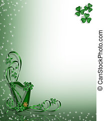 St Patricks Day Celtic Harp Design - St Patricks Day Celtic...