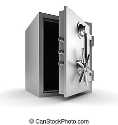 3d vault on white background