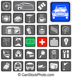 map squared icons - legend - A collection of legends for map...