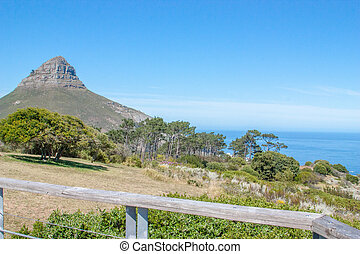 South Africa, Cape Town, Table Mountain, Lions Head and the...