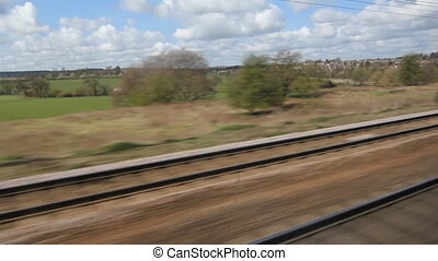 Britain by train. - Travelling by train through the English...