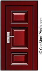 vector luxury mahogany wooden entrance door