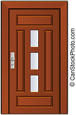 vector modern entrance door