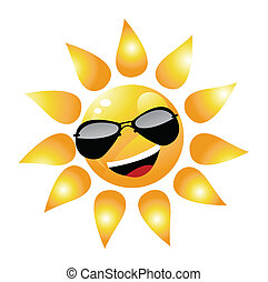 Vector Cartoon Sun Character