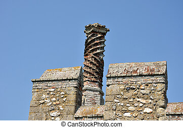Elizabethan Chimney on castle walls