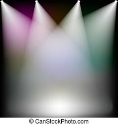 spotlights  - Colorful spotlights on stage