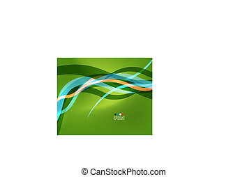 Abstract design element - green wave