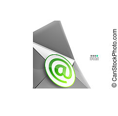 Email internet vector background