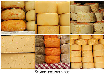 collage with cheese