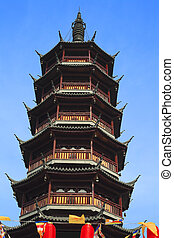 Ancient Chinese temple tower