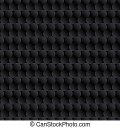 Abstract black background with circles
