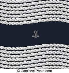 Vector background with nautical rope