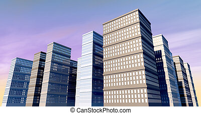 Building And Skyscapers - A city of monolithic skyscrapers...