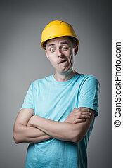 worker in helmet resent