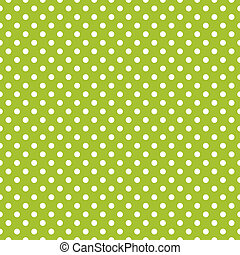 Seamless green spring dots pattern - Vector seamless spring...