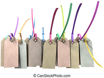 Paper Tag And Colourful Zip Tie Collection - A collection of...