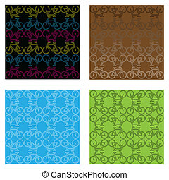 bike backgrounds - A set of four bicycle backgrounds
