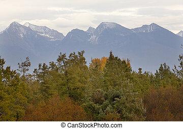 Mountains Fall Colors National Bison Range Charlo Montana