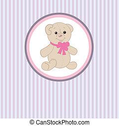 Cute grey teddy bear with patch.